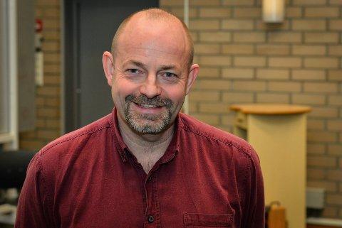 PETTER HAGEN I ØREN SKOLEKORPS: Han har selv vokst opp med korps og brenner for at barn og unge skal få delta i korpsfellesskapet og oppleve mestring i musikken.