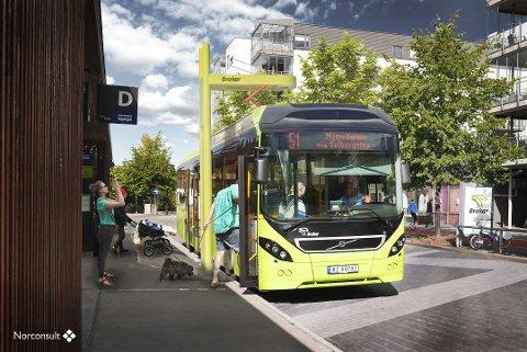 NY LEVERANDØR: Brakar har skrevet avtale med en ny leverandør av elbusser. ILLUSTRASJON BRAKAR