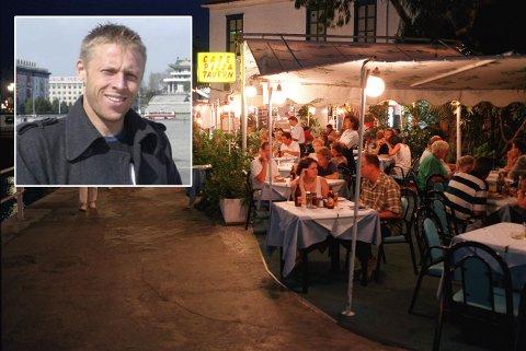 VANSKELIG: Det er ikke alltid like lett å finne et bra sted å spise på ferie. Her fra Kreta.