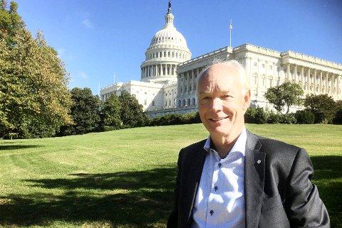 CAPITOL HILL: Washington DC er hovedstaden. Her holder president Trump til i Det hvite hus. Kongressen og Senatet er også i Washington.     Foto: Privat
