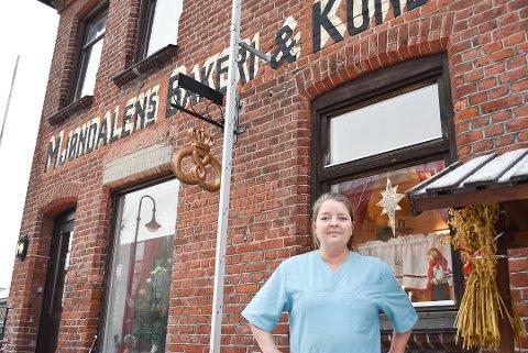 Vera Beate Molund, daglig leder på Mjøndalen bakeri og konditori
