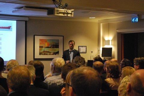 Magne Kallevåg fra Statoil var klar på at Veidnes er en god lokasjon for ilandføring av Johan Castberg.