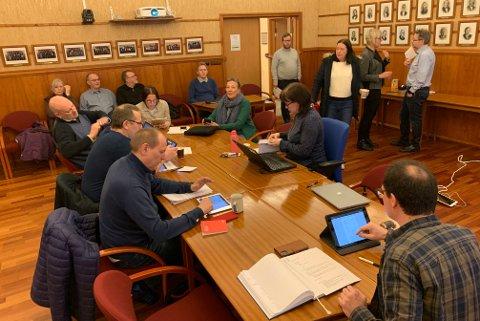 RÅDHUSSALEN: Slik så det ut da formannskapet i Nordkapp kommune hadde møte 21. januar tidligere i år.
