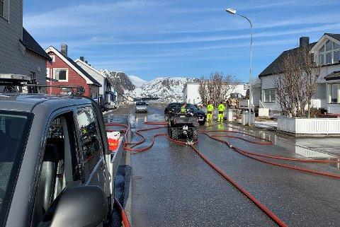 Nordvågveien ved Joker i Honningsvåg.
