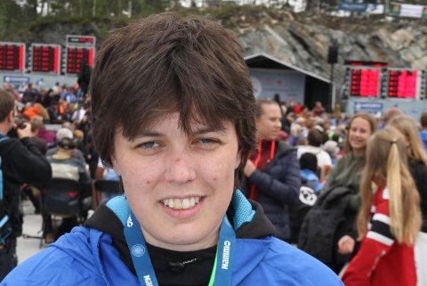 SPENT: Reidun Kristin Knapstad ser frem til baneskytingen i Landsskytterstevnet. Hun håper på en god prestasjon og resultat der.