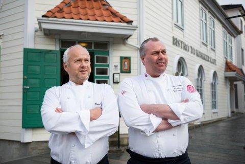 Terje Andersen og Øystein Berge i Bistro To Kokker kunne torsdag feire 30-årsjubileum.