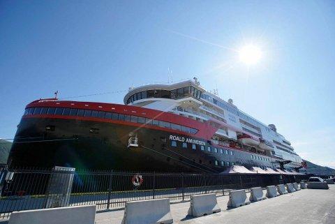 ROALD AMUNDSEN: Skipet skal ha kommet fra Svalbard og la til kai i Tromsø klokken 9 fredag morgen.