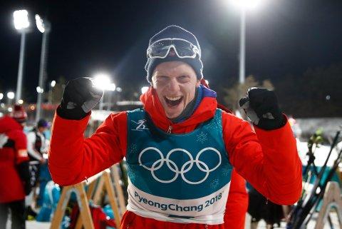VINNAR: Johannes Thingnes Bø vann fredagens sprint i Pokljuka. Bildet er tatt 20 km skiskyting i Alpensia Biathlon Centre under vinter-OL i Pyeongchang. Foto: Terje Pedersen / NTB scanpix