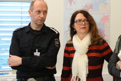 Ingrid Heggø på besøk på 110-sentralen januar 2013