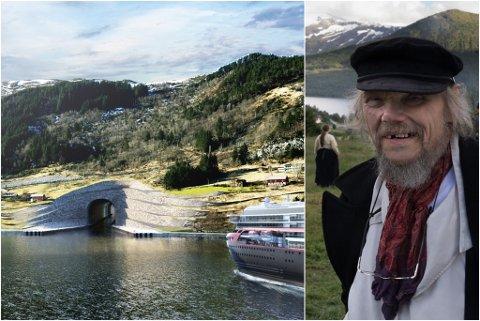 KUNSTHØVE: Fridtjov Urdal meiner skipstunnelen på Stad bør gjerast om til verdas største kunstprosjekt.