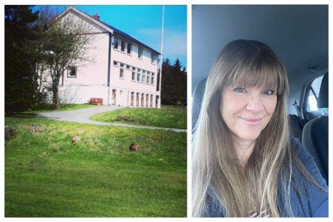 TILBAKE: Ulla Foss har kjøpt Værlandet gjesteheim. Der var foreldra lærarar, og familien budde i leilegheita på loftet.