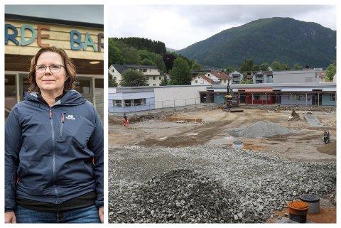 REKTOR: Therese Helland gler seg til elevane kjem tilbake til ny leikeplass.