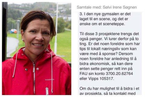 REKTOR: Sølvi Søgnen er rektor ved Halbrend skule. Foreldre reagerte på ei melding ho vidaresende.