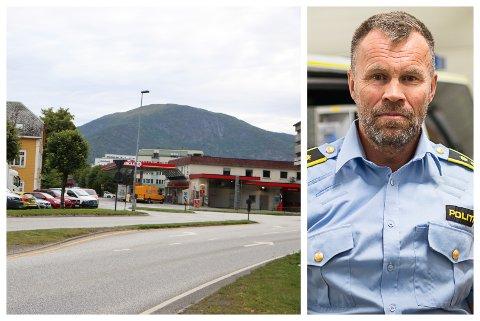 HENDING: Ein stad i nærleiken av Circle K i sentrum sør i Førde skal det ha skjedd ei hending med luftpistol måndag kveld. Det stadfestar lensmann Dag Fiske.