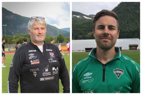 TIL DYST: Terje Rognsø og André Heggheim styrer skutene når Førde tar imot naborival Jølster i serieopninga laurdag.