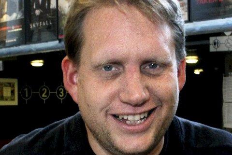 Alene i år: Kinosjef Jørgen Søderberg Jansen er glad de slapp kjempe mot knallvær, fotball-VM og seilskuter i år.