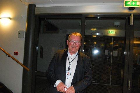 Fornøyd: Eivind N. Borge hadde all grunn til å smile etter valgresultatene på Hvaler var klare mandag kveld. (Foto: Joakim Simensen)