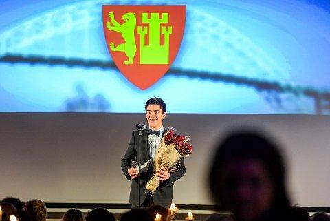 Idrettsstipend: Alexander Hestengen fikk Fredrikstad kommunes idrettsstipend 2015.