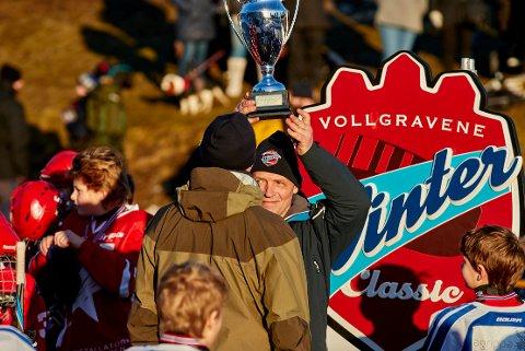 LIKER KULDEN: Sverre Jarild er glad for at kuldegradene har kommet til Gamlebyen. Den 16. januar avvikles den andre utgaven av Vollgravene Winter Classic.