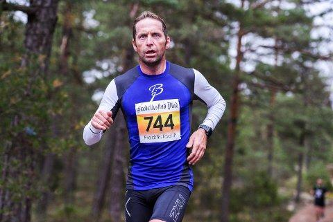 STERK PRESTASJON: Even Klund viste fightervilje da han gjennomførte søndagens utgave av Fredrikstadmarka Rundt i imponerende stil. Foto: Kent-Inge Olsen