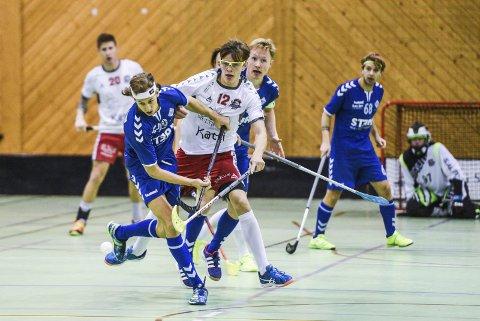 Scoret fire: Samuel Hellström scoret to i ordinær tid, samt at han satte inn to mål i straffeslagskonkurransen mot Grei tirsdag.