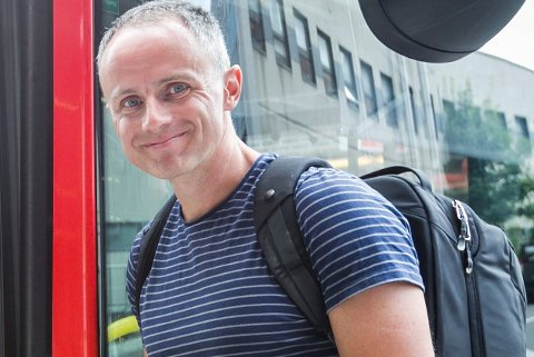 Nei til Viken: Erik Skauen er gruppeleder for Miljøpartiet De Grønne i fylkestinget. Utbygging av kollektivtrafikken var ett av kravene partiet stilte til en grønn region Viken.