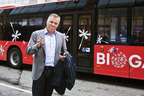 Vil ha sterkere satsing: Kjell Arne Græsdal i Fredrikstad Næringsforening ber fylkespolitikerne bruke mer penger på buss i Nedre Glomma. (Arkivfoto: Trine Sirnes)