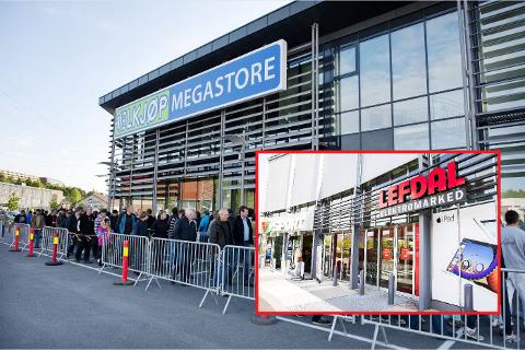 SLÅS SAMMEN: Elkjøp har kjøpt opp Lefdal, og har nå to butikker i Dikeveien.