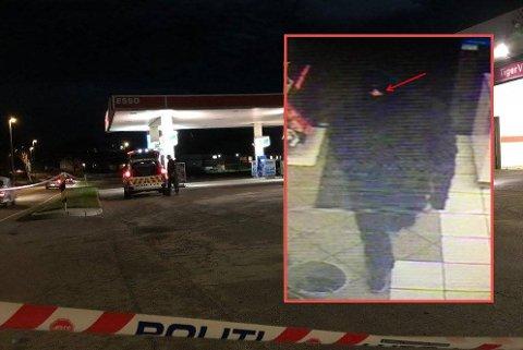 Raneren hadde dekket seg til da han truet en kvinnelig ansatt med kniv ved Esso på Haldenveien torsdag kveld i forrige uke. Han er nå pågrepet.