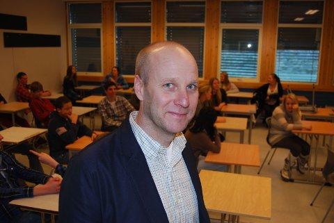 Glad: Tore André Johansen tar over som rektor på Kråkerøy ungdomsskole.