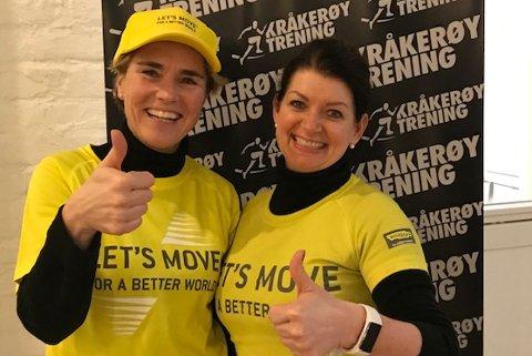 GOD SAK: Marianne Løvli (t.v.) og Siv Nilsrud driver Kråkerøy Trening. De sier deres visjon er å være mer enn et treningssenter: – Det prøver vi å etterleve i alle ledd av vår virksomhet, og derfor ønsker vi å bidra til at barn kommer i aktivitet gjennom et godt formål, sier de.