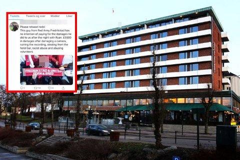 HENGT UT: En drøy måned etter arrangementet med Ryan Giggs på Hotel Klubben i Tønsberg ble Fredrikstad-mannen hengt ut på sosiale medier.
