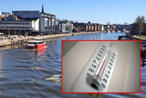 Temperaturene mandag formiddag minner mer om våren enn om høsten. Ved værstasjonen i Sarpsborg ble det meldt om ny varmerekord.