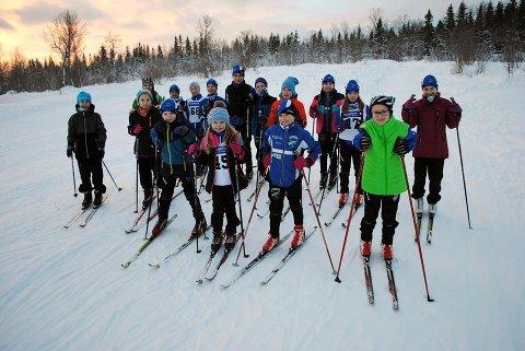 Alle deltakerne fra Ankenes skiklubb