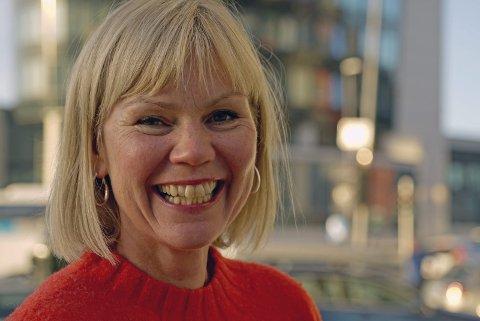 FORNØYD: Åsunn Lyngedal sier det var stas å stå på talerstolen på Stortinget og snakke direkte til Statsministeren om Narvik. Foto: Fritz Hansen