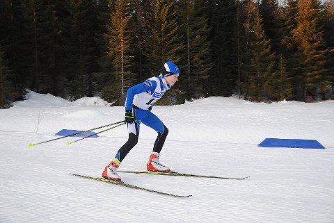 Isak Simonsen tok gull på kretsrenn i Harstad lørdag