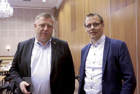 BILISTER: Geir A. Mo og Odd-Hugo Pedersen i Norsk Lastebileierforbund vil ha åpne grenser.