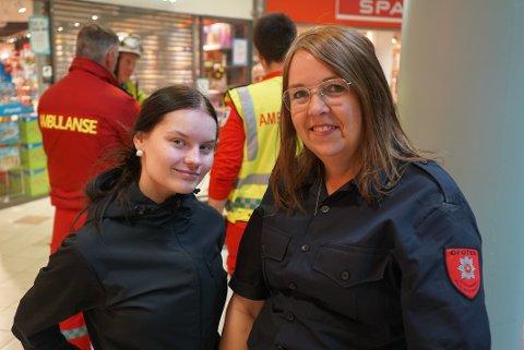 I DYPET: Duoen Michelle Olsen og Hanne Malme spilte to savnede som befant seg nært flammekilden.