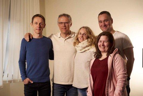 Styret i nye Narvik Innebandyklubb. Lars Hjuring, Sverre Sørensen, Marit Henriksen, Gro Mikaelsen,  Mikael Karlholm. Ikke på bildet: Camilla Telnes.