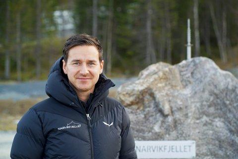 Daglig leder i Narvikfjellet, Jim Ove Johansen er svært godt fornøyd med å få 1,2 millioner kroner til lovpålagt vedlikehold av anlegget.