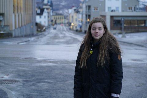 LEDER: Bare 13 år gammel er Emma-Sofie Olafsen blitt ny leder i ungdomsrådet.