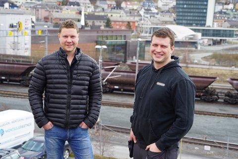 FORNØYD: Daglig leder i Rallarservice AS, Stian Schønning Seljenes (t.v.) er fornøyd med driftsresultatet i 2020. Her sammen med Stian Selnæs som er styreleder. Arkivfoto: Fritz Hansen
