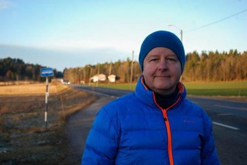 SYKKELSTI: Ordføreren vil ha sykkelsti fra Vegge til Nykirke.