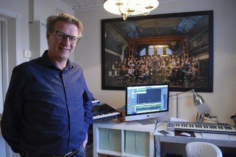 Kontoret: Tid og ro skal investeres i drømmene om en egen, helaftens forestilling, musikk og skriverier, forteller Øystein Fevang. alle foto: audun bårdseth