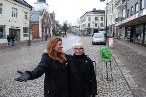 HØYRE: LIv Karto og Linn Fagerberg i Høyre i henholdsvis fylket og kommunen, ønsker «shared space» velkommen for å skape mer liv i Horten sentrum.
