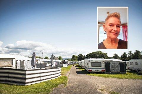 SOMMERPARADIS: Det er igjen åpnet for å campe i Horten. Men ikke for alle, forteller Inger Marie Hollekim (innfelt) fra Drammen. Hun har hatt fast plass på Rørestrand siden 1993.