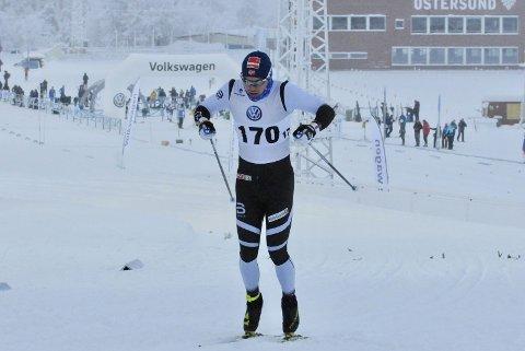 Sivert Wiig representerer Gjesdal idrettslag under NM på ski i Meråker. Her fra et løp tidligere i vinter (arkivfoto: Henning Wiig).