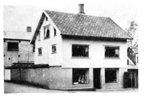 Slakterforretningen til Peder Ravndal i Krambugata.