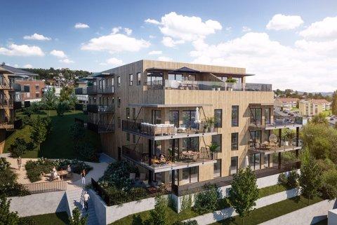 58 nye leiligheter skal stå klare i 2021, så langt er 45 av disse solgt.
