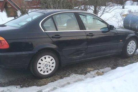 BULK: Slik så bilen ut da eieren kom tilbake etter en snartur på apoteket.